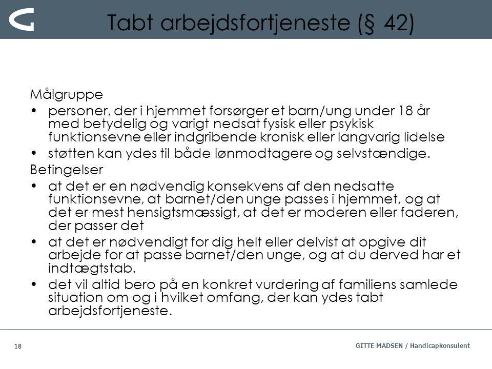 Tabt arbejdsfortjeneste (§ 42)