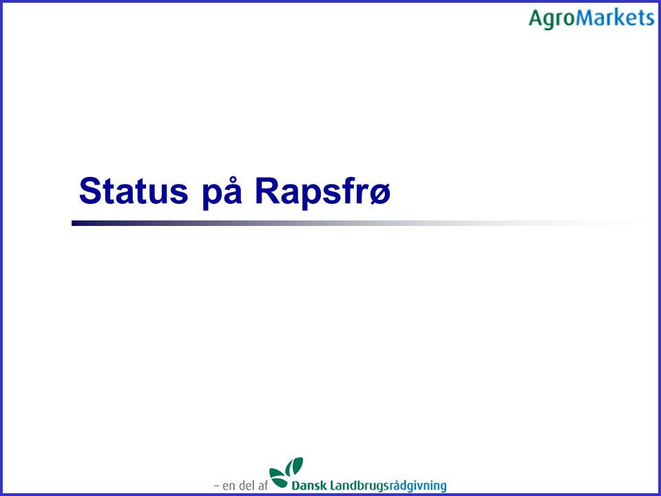 Status på Rapsfrø