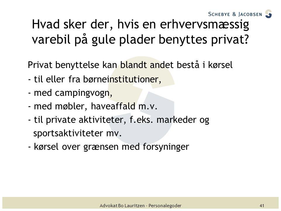 Advokat Bo Lauritzen - Personalegoder