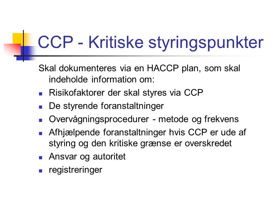 CCP - Kritiske styringspunkter