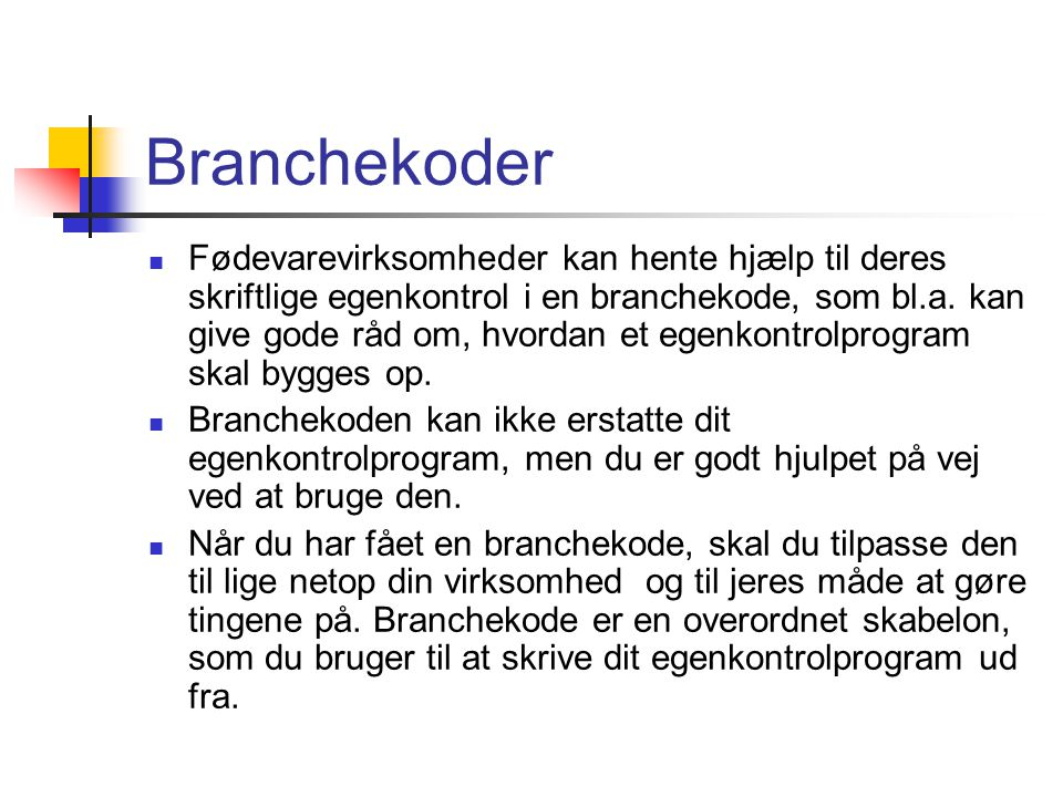 Branchekoder