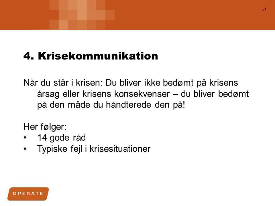 4. Krisekommunikation