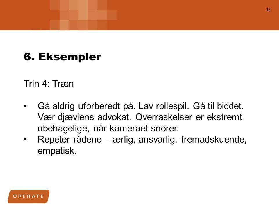 6. Eksempler Trin 4: Træn.