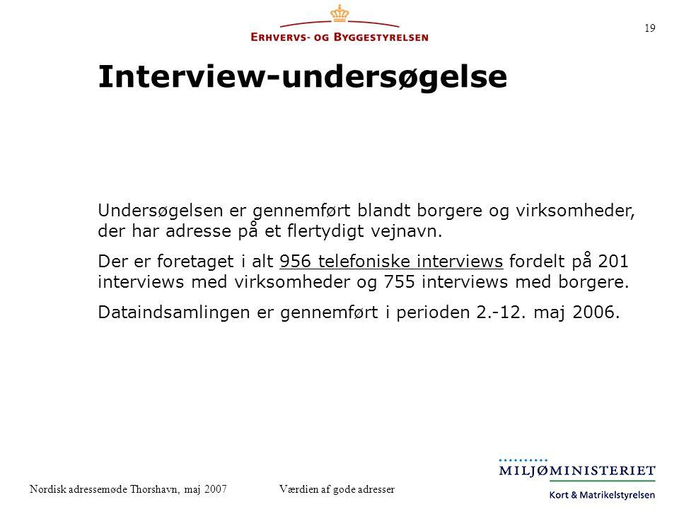 Interview-undersøgelse