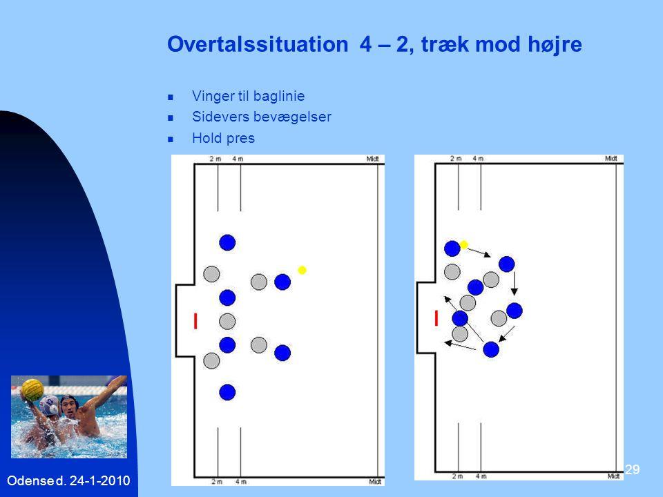 Overtalssituation 4 – 2, træk mod højre