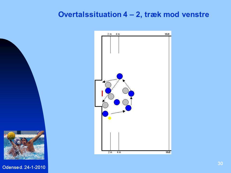 Overtalssituation 4 – 2, træk mod venstre