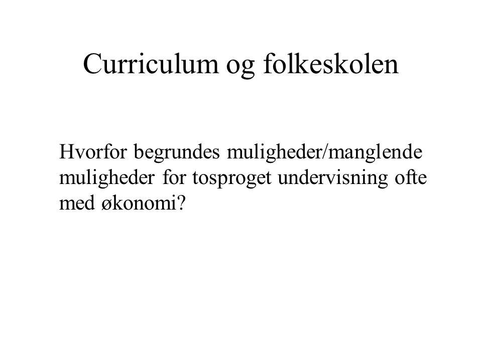Curriculum og folkeskolen