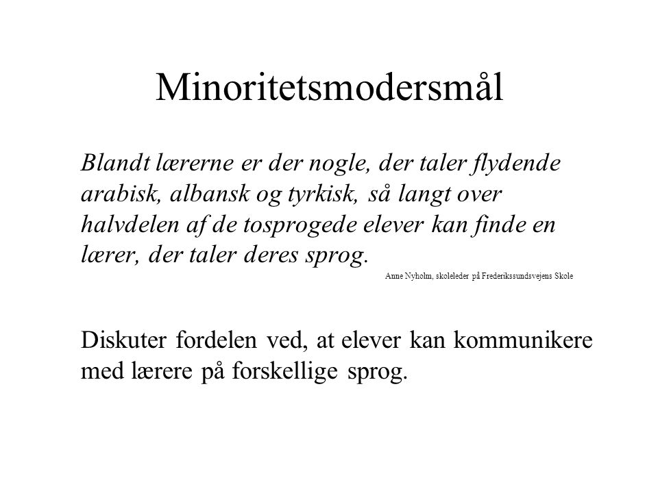 Minoritetsmodersmål