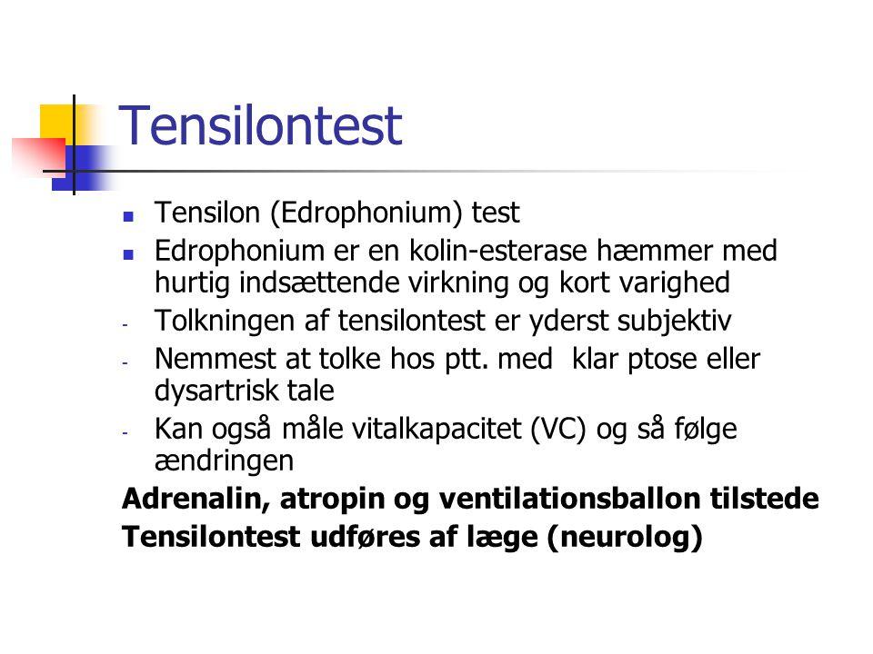 Tensilontest Tensilon (Edrophonium) test