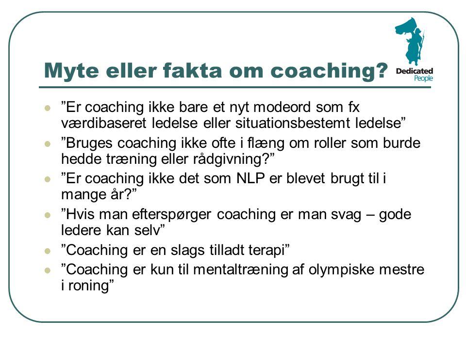 Myte eller fakta om coaching