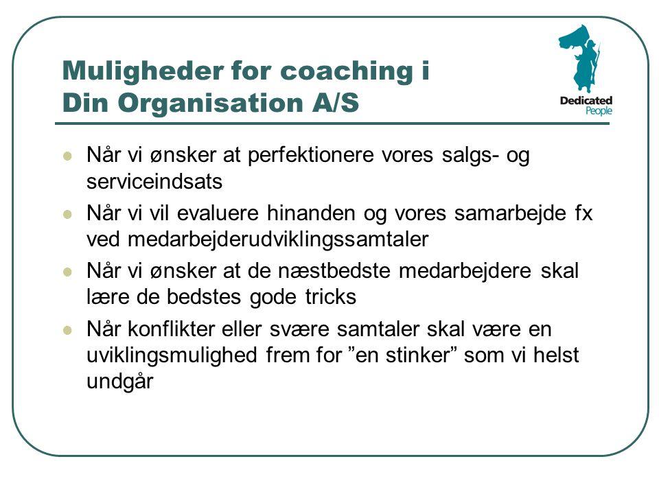 Muligheder for coaching i Din Organisation A/S