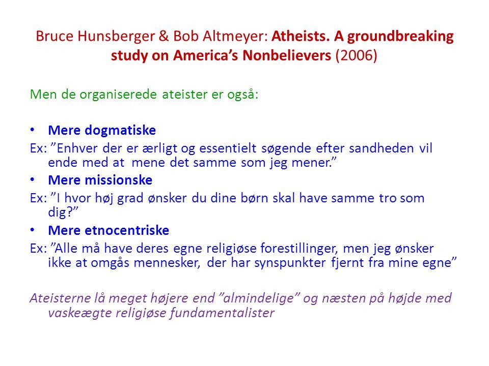 Bruce Hunsberger & Bob Altmeyer: Atheists