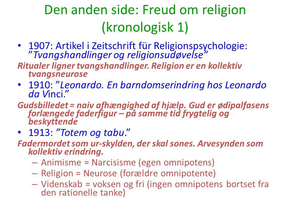 Den anden side: Freud om religion (kronologisk 1)