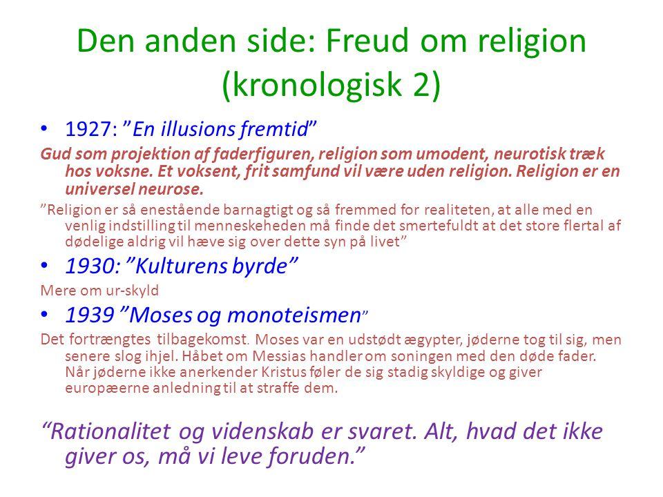 Den anden side: Freud om religion (kronologisk 2)