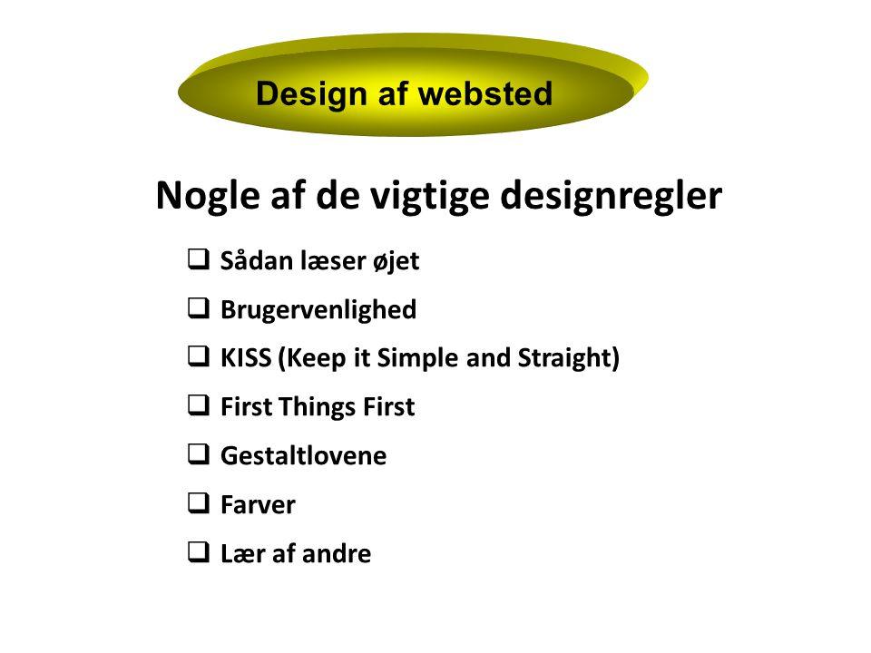 Design af websted Sådan læser øjet Brugervenlighed