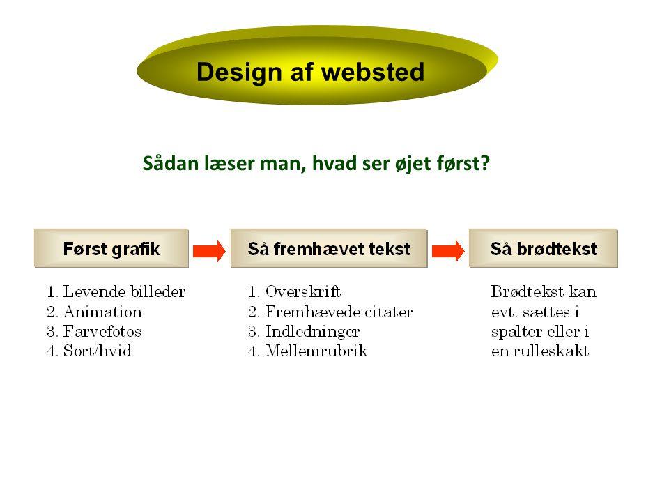 Design af websted Sådan læser man, hvad ser øjet først