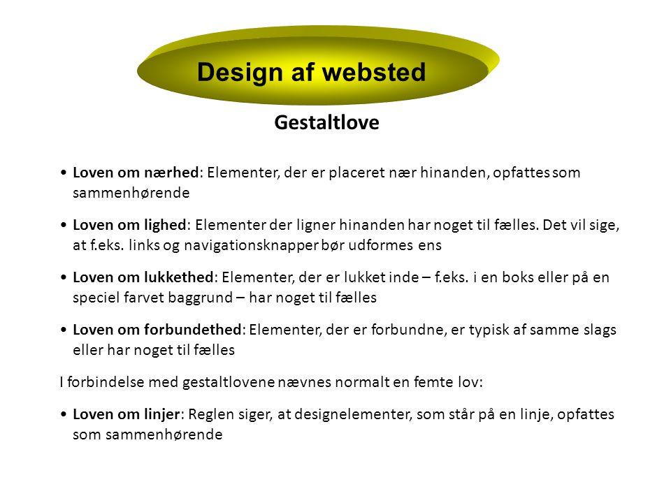 Design af websted Gestaltlove