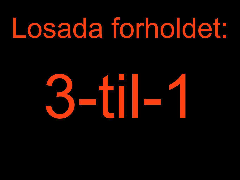 Losada forholdet: 3-til-1