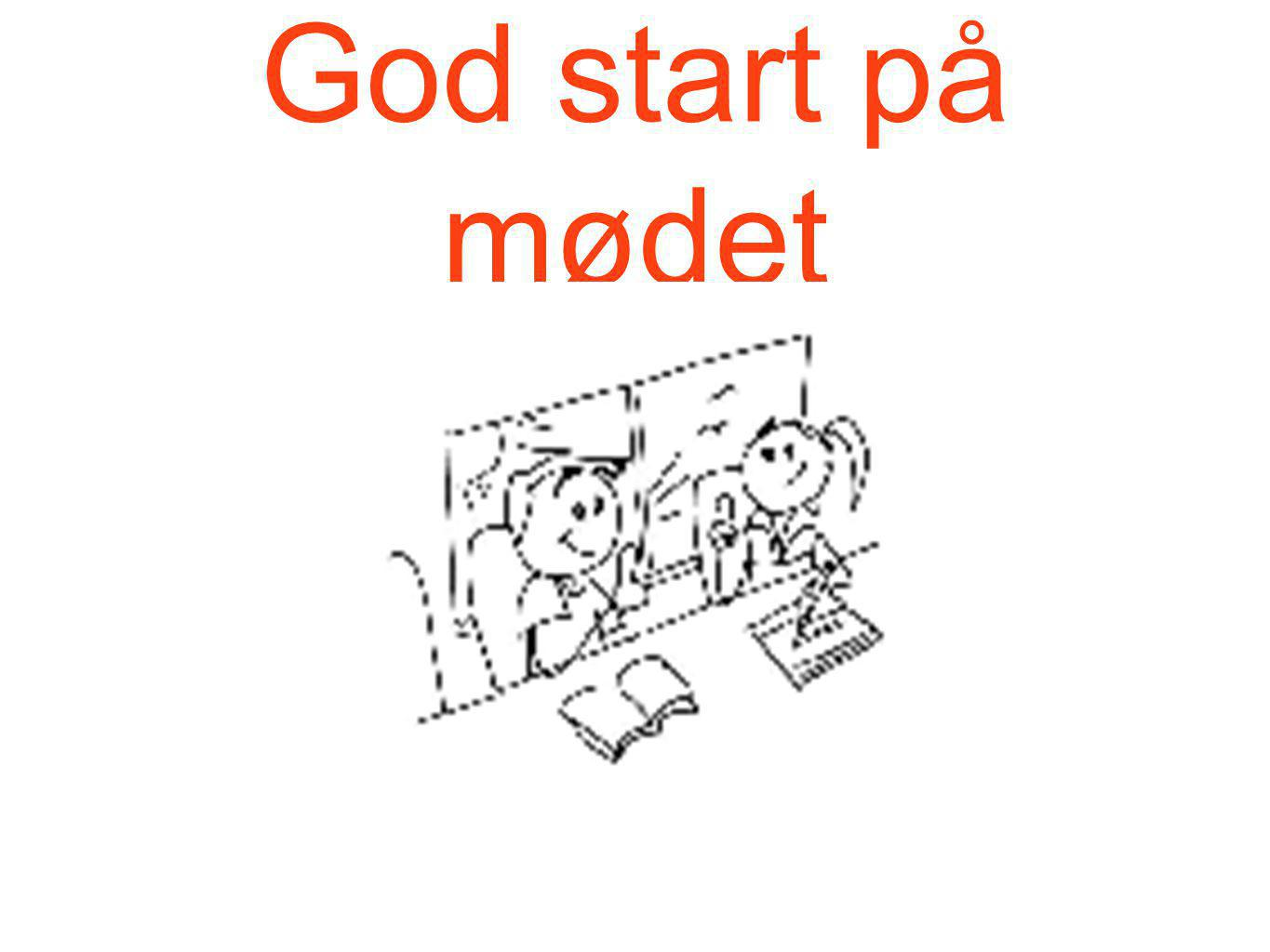 God start på mødet