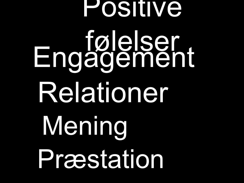 Positive følelser Engagement Relationer Mening Præstation