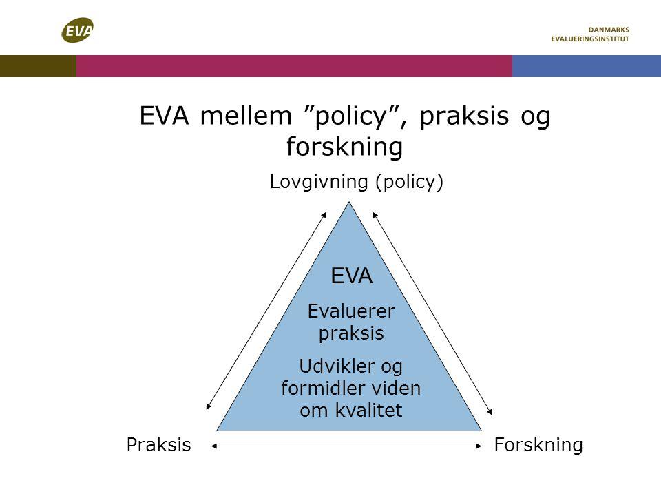 EVA mellem policy , praksis og forskning
