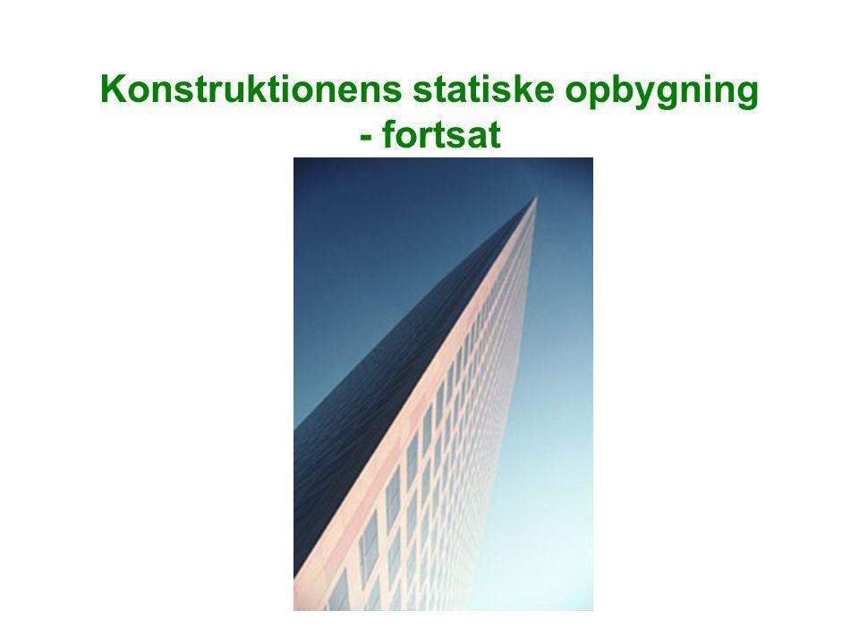 Konstruktionens statiske opbygning - fortsat