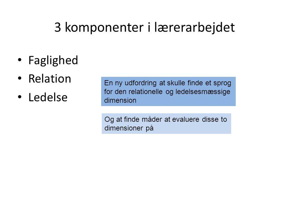 3 komponenter i lærerarbejdet