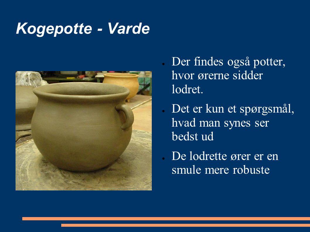 Kogepotte - Varde Der findes også potter, hvor ørerne sidder lodret.