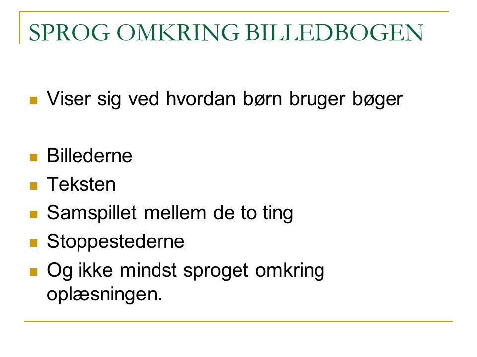 SPROG OMKRING BILLEDBOGEN