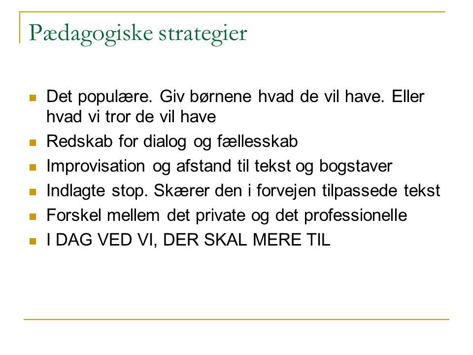 Pædagogiske strategier