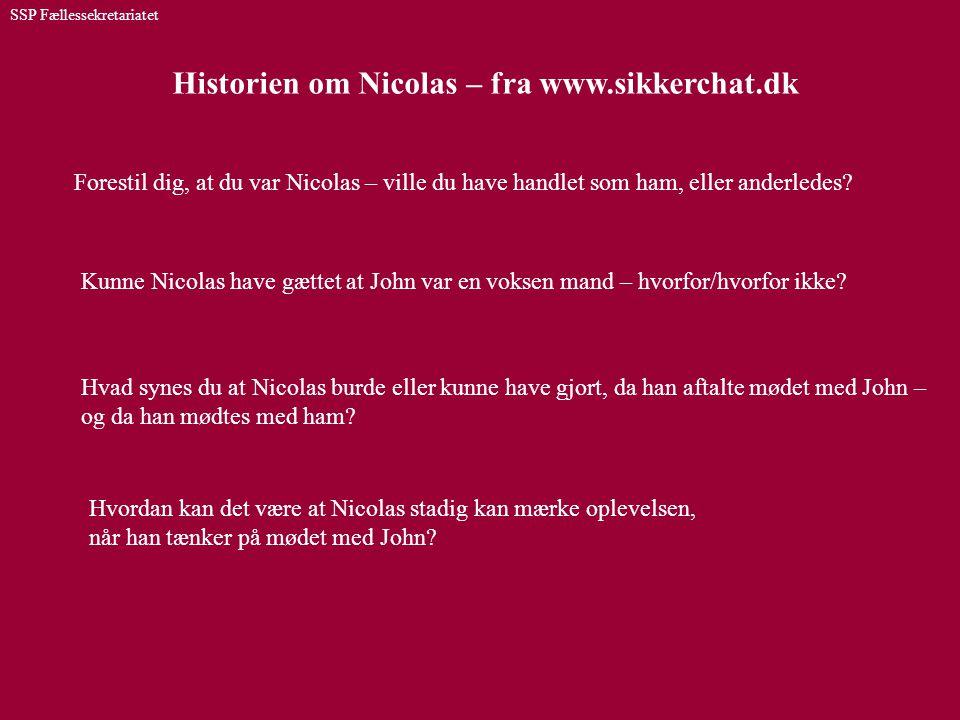 Historien om Nicolas – fra www.sikkerchat.dk