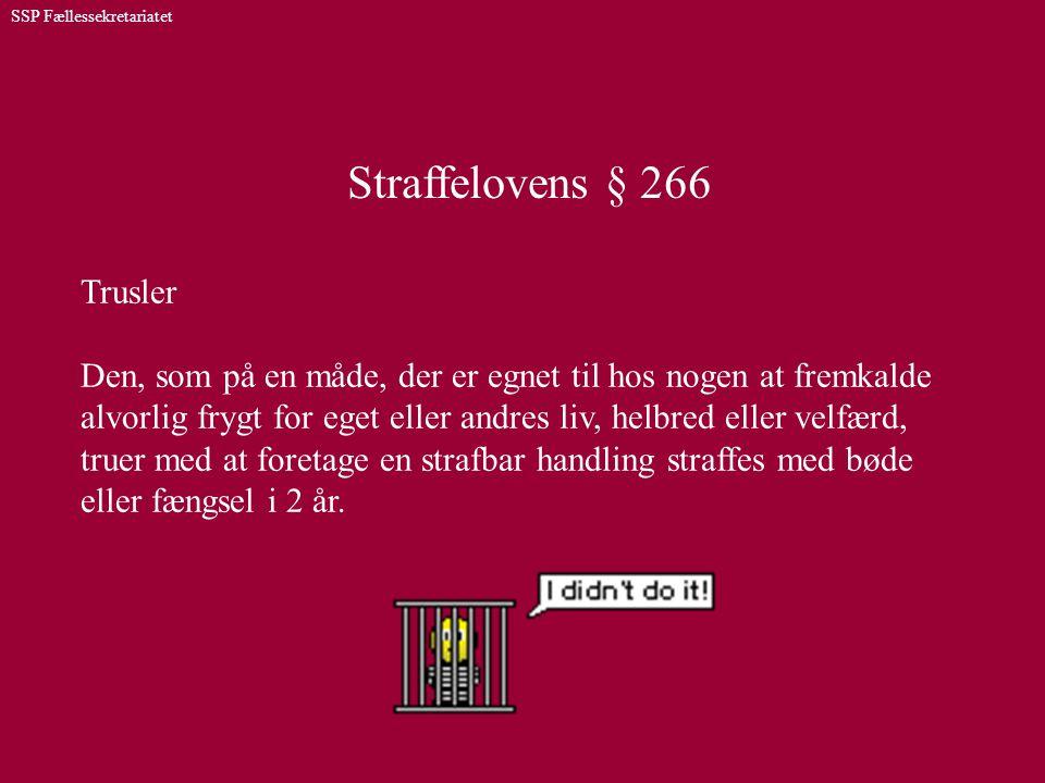 Straffelovens § 266 Trusler