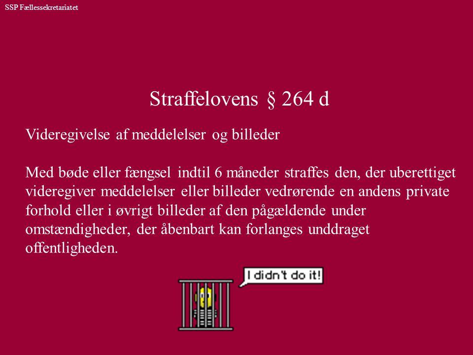 Straffelovens § 264 d Videregivelse af meddelelser og billeder