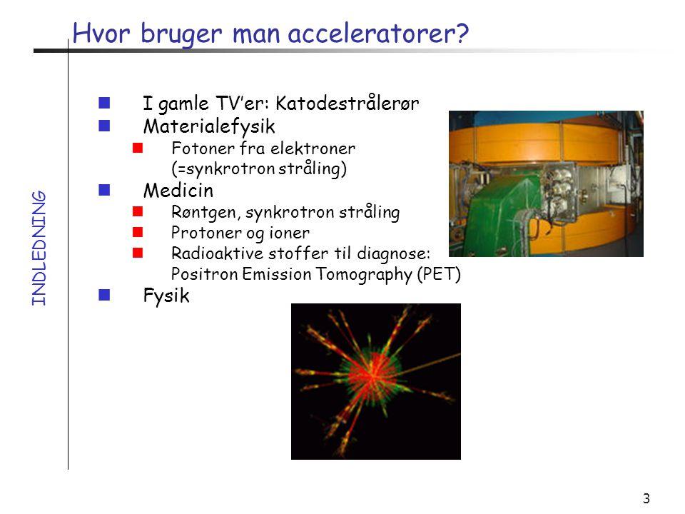 Hvor bruger man acceleratorer