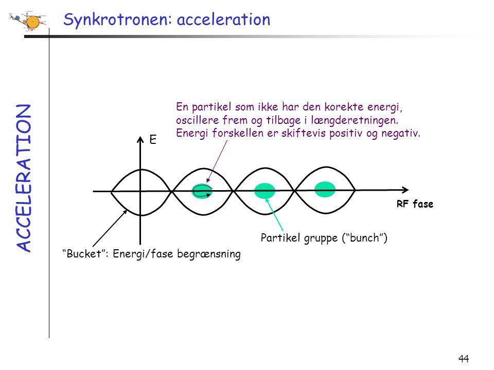 Synkrotronen: acceleration