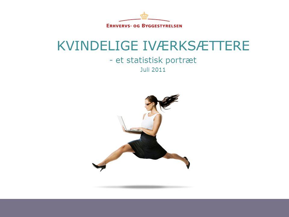 KVINDELIGE IVÆRKSÆTTERE - et statistisk portræt Juli 2011
