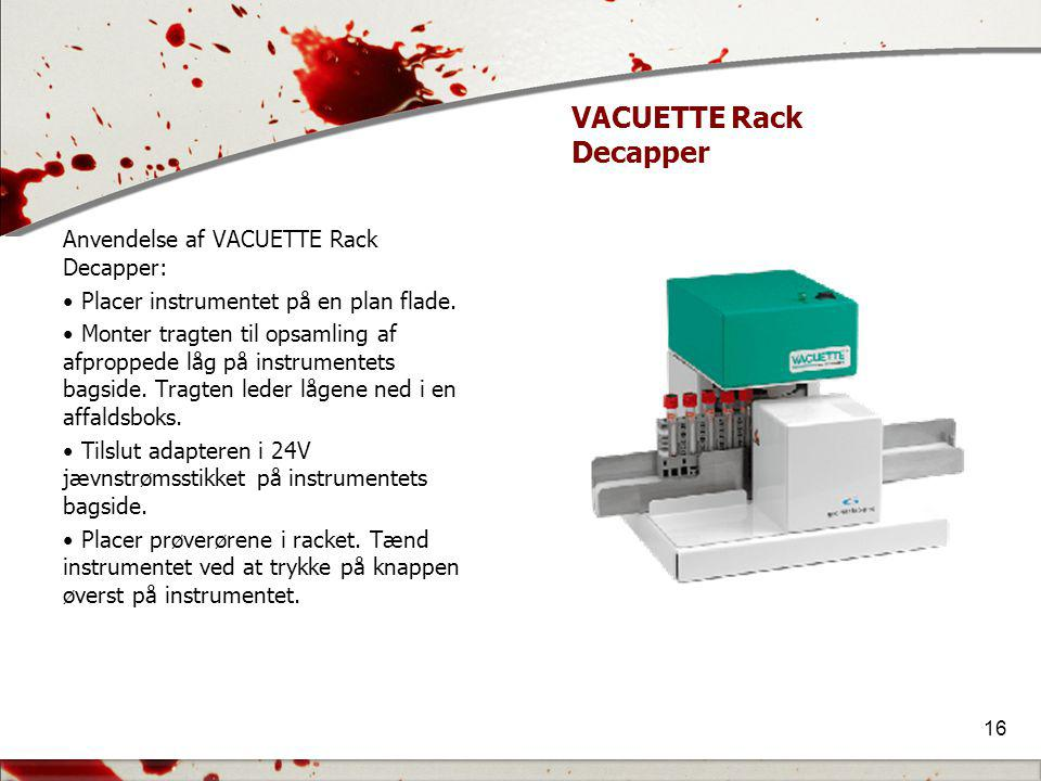 VACUETTE Rack Decapper