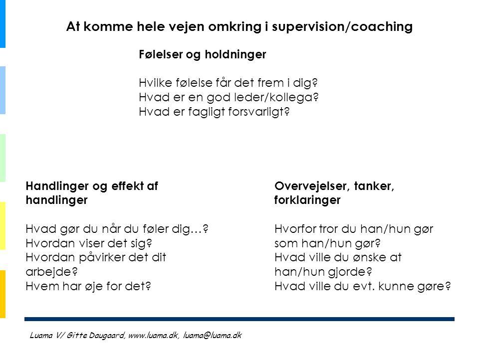 At komme hele vejen omkring i supervision/coaching