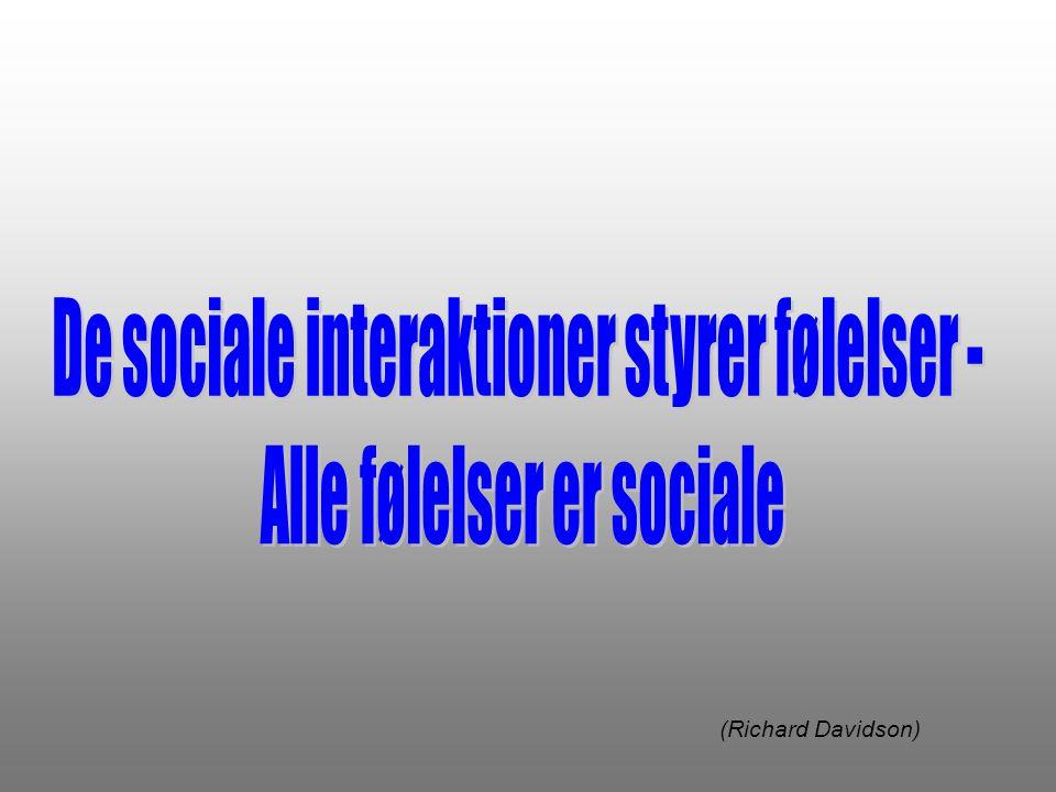 De sociale interaktioner styrer følelser - Alle følelser er sociale
