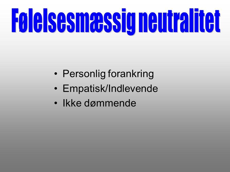 Følelsesmæssig neutralitet