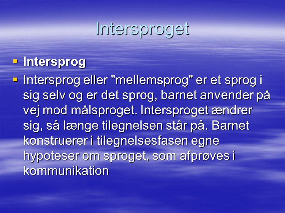 Intersproget Intersprog