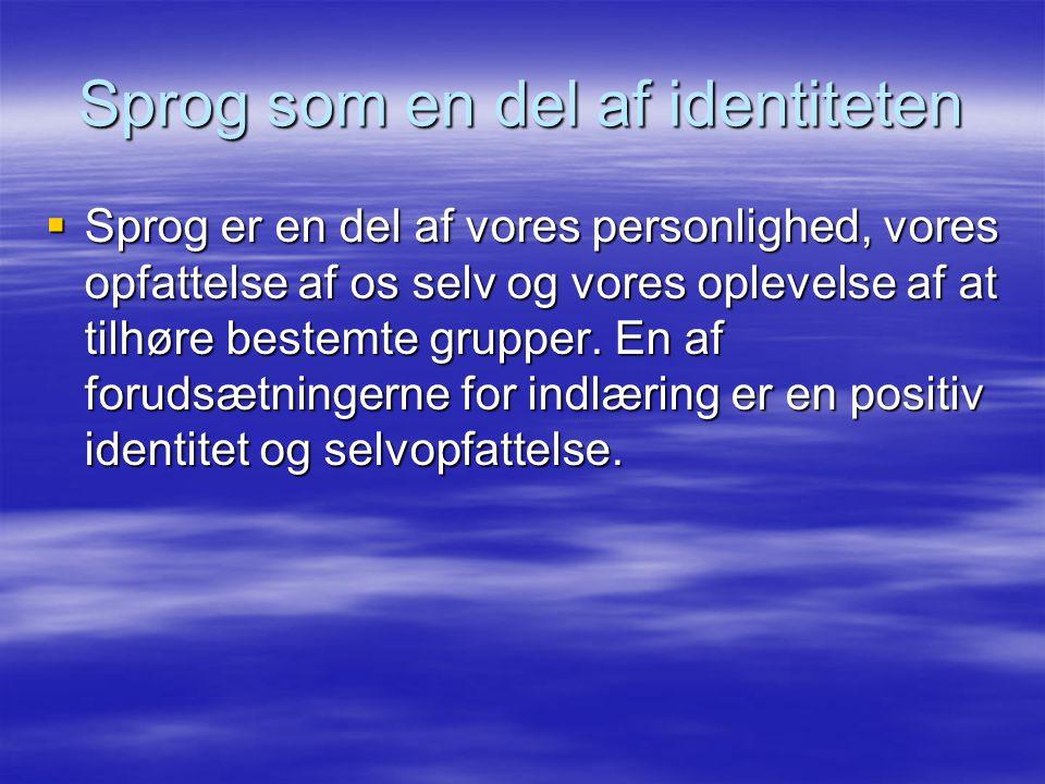 Sprog som en del af identiteten