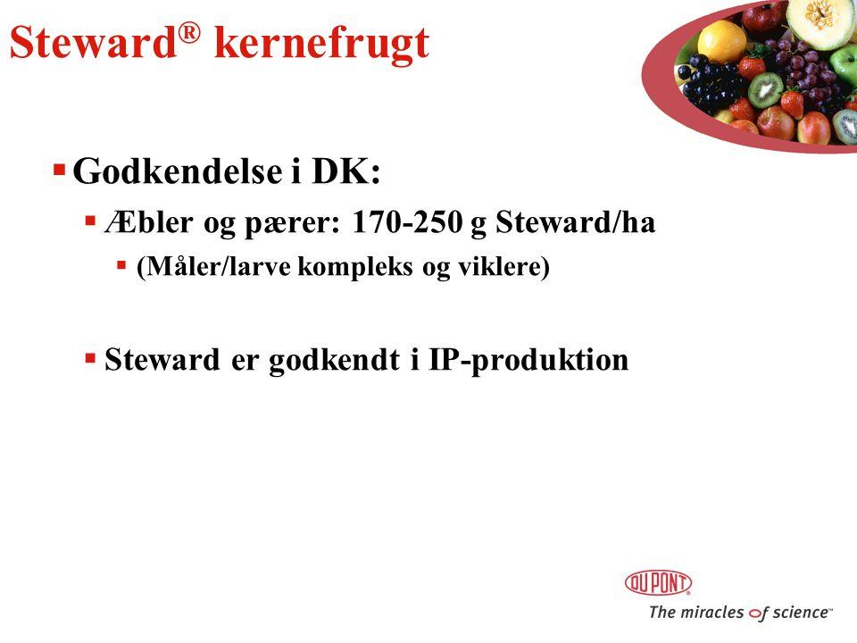 Steward® kernefrugt Godkendelse i DK: