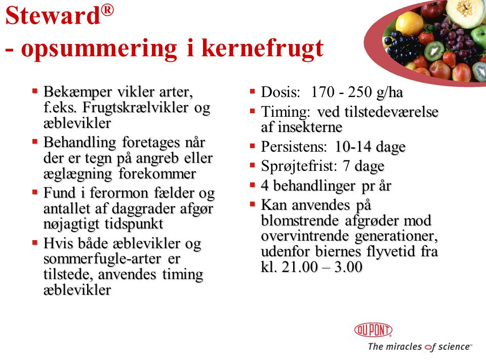 Steward® - opsummering i kernefrugt