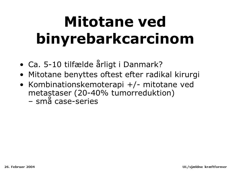 Mitotane ved binyrebarkcarcinom