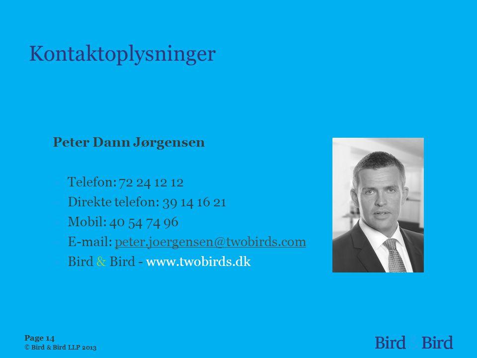 Kontaktoplysninger Peter Dann Jørgensen Telefon: 72 24 12 12