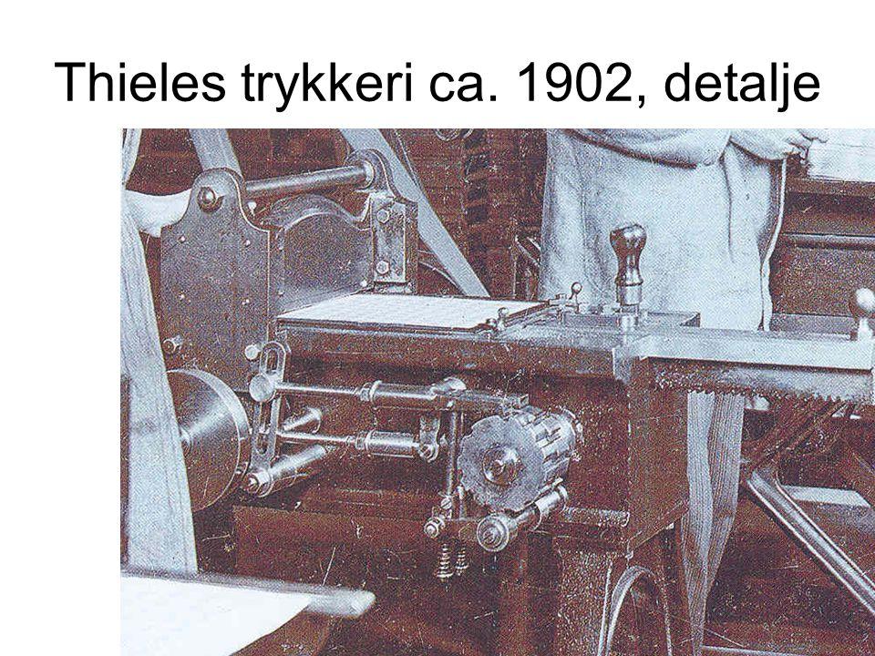Thieles trykkeri ca. 1902, detalje