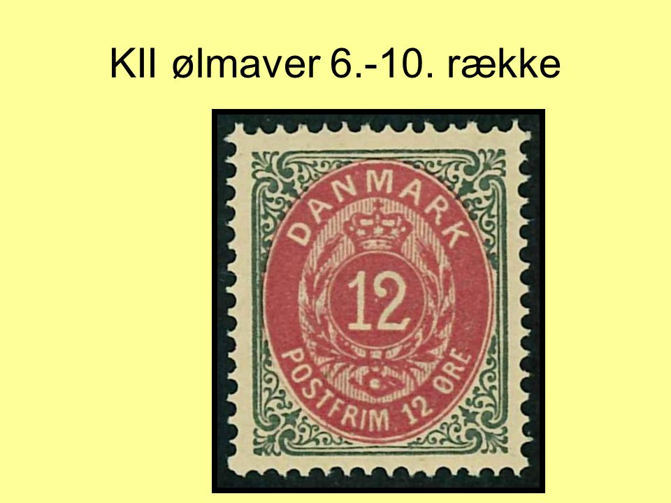 KII ølmaver 6.-10. række