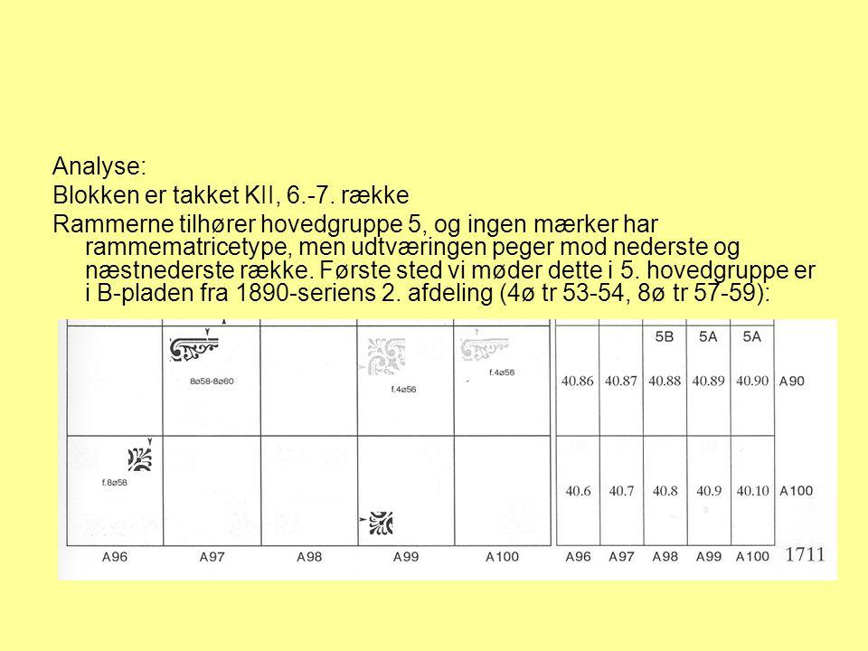 Analyse: Blokken er takket KII, 6.-7. række.
