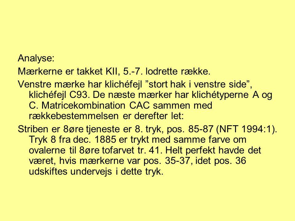 Analyse: Mærkerne er takket KII, 5.-7. lodrette række.